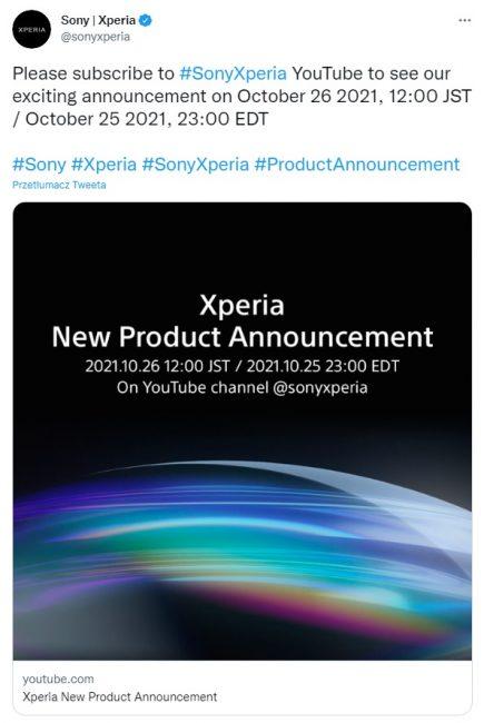 nowa Sony Xperia zapowiedź teaser