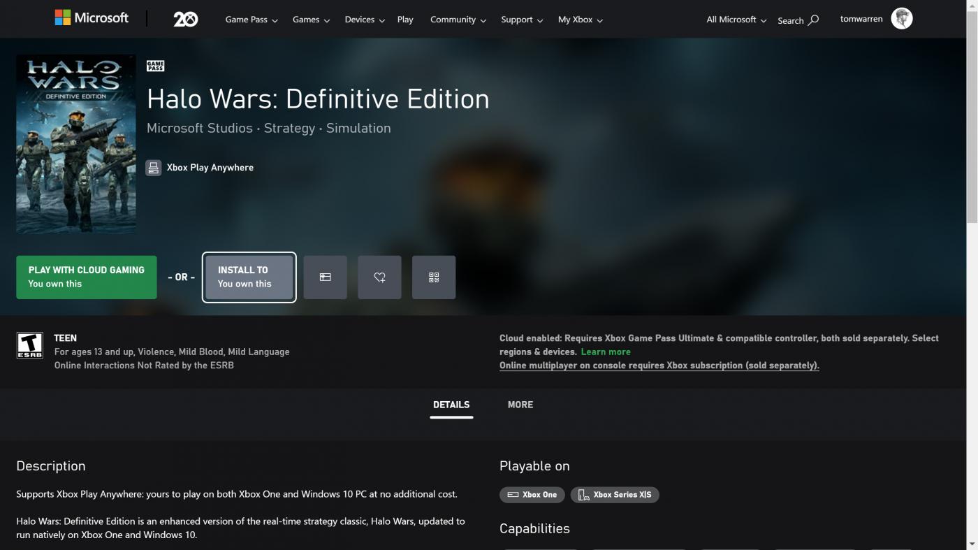 Nowy, przeglądarkowy sklep Xbox wygląda schludnie i przypomina do złudzenia systemową aplikację platformy (źródło: The Verge)