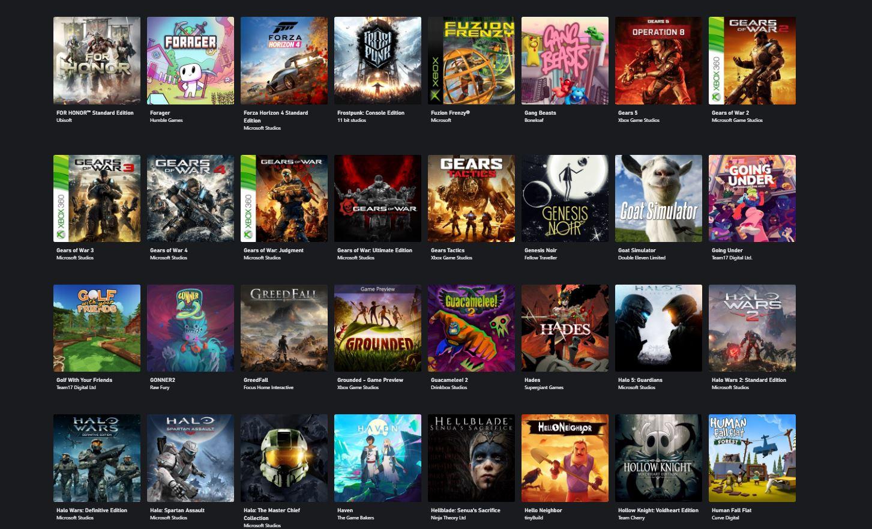 To tylko ułamek listy gier, jaką oferuje obecnie xCloud